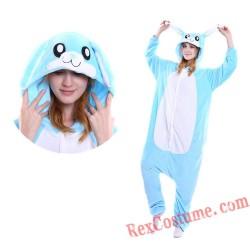 Adult Pink Rabbit Kigurumi Onesie Pajamas Cosplay Costumes