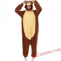 Adult Brown Bear Kigurumi Onesie Pajamas Cosplay Costumes