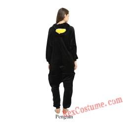 Adult Black Penguin Kigurumi Onesie Pajamas Cosplay Costumes