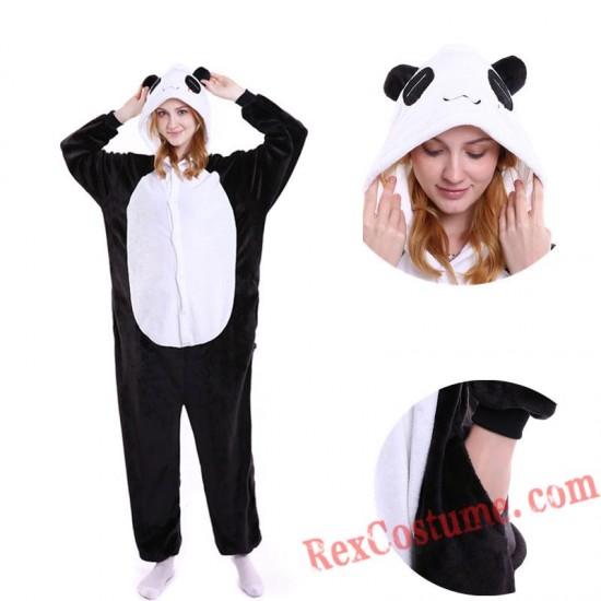 Adult Panda Kigurumi Onesie Pajamas Cosplay Costumes
