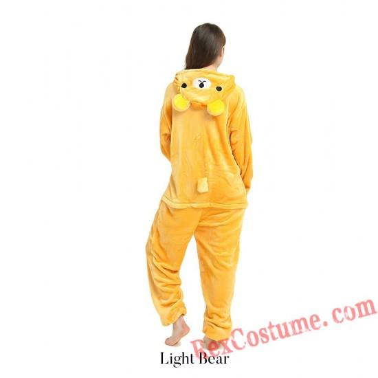 Adult Rilakkuma Kigurumi Onesie Pajamas Cosplay Costumes