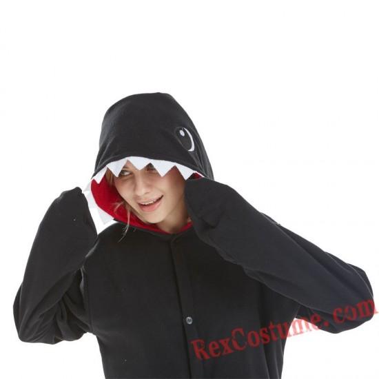 Adult Black Shark Kigurumi Onesie Pajamas Cosplay Costumes