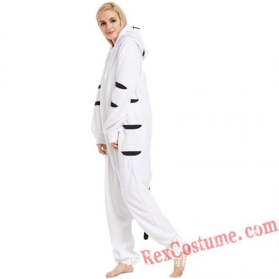 Adult White Tiger Kigurumi Onesie Pajamas Cosplay Costumes