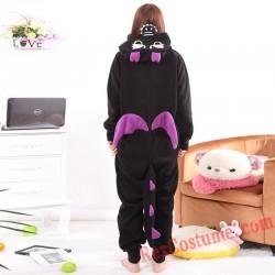 Adult Black Dragon Kigurumi Onesie Pajamas Cosplay Costumes