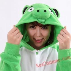Adult Green Pig Kigurumi Onesie Pajamas Cosplay Costumes