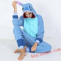Adult Blue Stitch Kigurumi Onesie Pajamas Cosplay Costumes