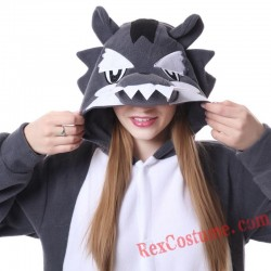 Adult Big Wolf Kigurumi Onesie Pajamas Cosplay Costumes