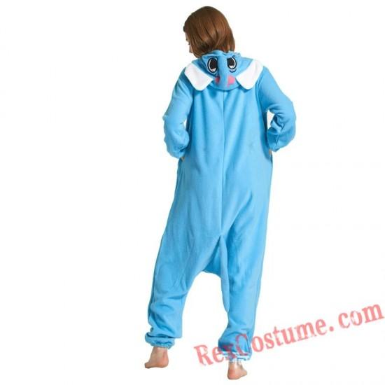 Adult Blue Elephant Kigurumi Onesie Pajamas Cosplay Costumes