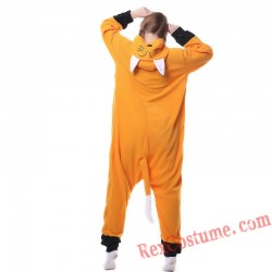 Adult Fox Kigurumi Onesie Pajamas Cosplay Costumes