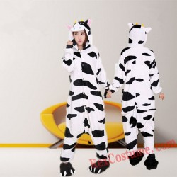 Adult Cow Kigurumi Onesie Pajamas Cosplay Costumes