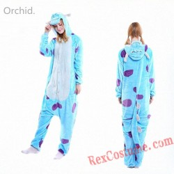 Adult Blue Cow Kigurumi Onesie Pajamas Cosplay Costumes