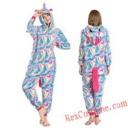 Adult Fantasy Unicorn Kigurumi Onesie Pajamas Cosplay Costumes