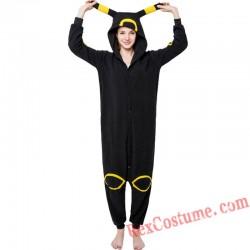 Adult Black Moon Elf Kigurumi Onesie Pajamas Cosplay Costumes
