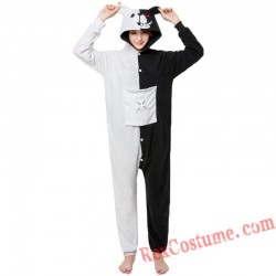 Adult Black White Bear Kigurumi Onesie Pajamas Cosplay Costumes