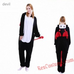 Adult Demon Kigurumi Onesie Pajamas Cosplay Costumes