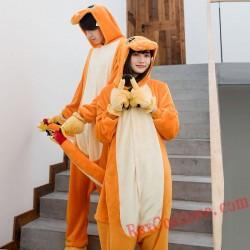 Adult Fire Dragon Kigurumi Onesie Pajamas Cosplay Costumes