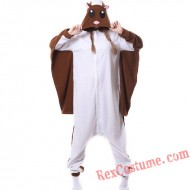 Adult Brown Flying Rat Kigurumi Onesie Pajamas Cosplay Costumes