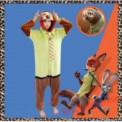 Zootopia Sloth Kigurumi Onesie Pajamas Cosplay Costumes