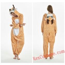 Adult Deer Kigurumi Onesie Pajamas Cosplay Costumes