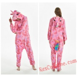 Adult Unicorn Kigurumi Onesie Pajamas Cosplay Costumes