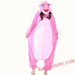 Adult Pink Panther Kigurumi Onesie Pajamas Cosplay Costumes