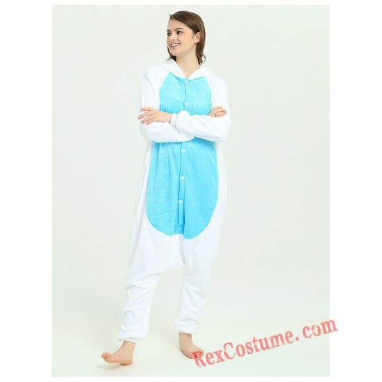Adult Blue Unicorn Kigurumi Onesie Pajamas Cosplay Costumes