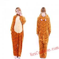 Adult Tigger Kigurumi Onesie Pajamas Cosplay Costumes