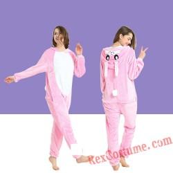 Adult Blue Rabbit Kigurumi Onesie Pajamas Cosplay Costumes