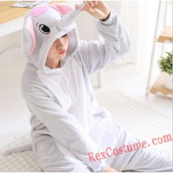 Adult Grey Elephant Kigurumi Onesie Pajamas Cosplay Costumes