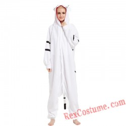 Adult White Tiger Kigurumi Onesie Pajamas Cosplay Costumes