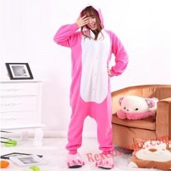 Adult Red Rabbit Kigurumi Onesie Pajamas Cosplay Costumes