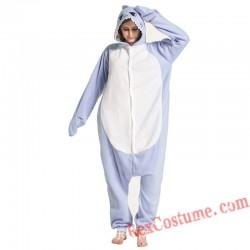 Adult Blue Shark Kigurumi Onesie Pajamas Cosplay Costumes