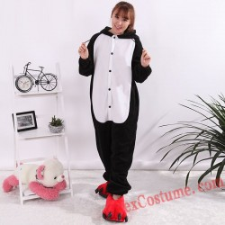 Adult Black Panther Kigurumi Onesie Pajamas Cosplay Costumes
