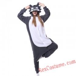 Adult Big Wolf Kigurumi Onesie Pajamas Cosplay Costumes