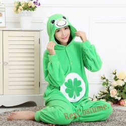 Adult Green Lucky Bear Kigurumi Onesie Pajamas Cosplay Costumes