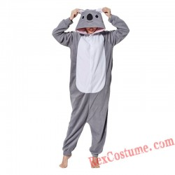 Adult Grey Koala Kigurumi Onesie Pajamas Cosplay Costumes