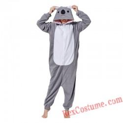 Adult Grey Koala Kigurumi Onesie Pajamas Cosplay Costumes