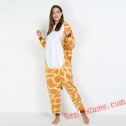 Adult Giraffe Kigurumi Onesie Pajamas Cosplay Costumes