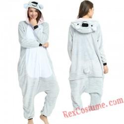 Adult Koala Kigurumi Onesie Pajamas Cosplay Costumes