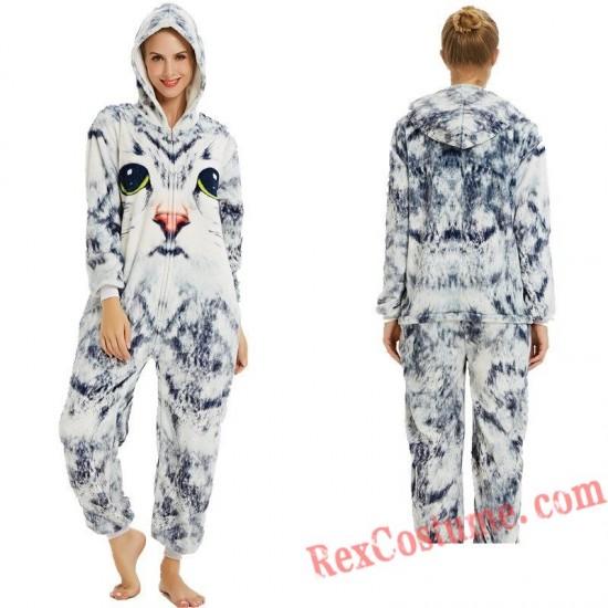 Adult 3D Cat Kigurumi Onesie Pajamas Cosplay Costumes