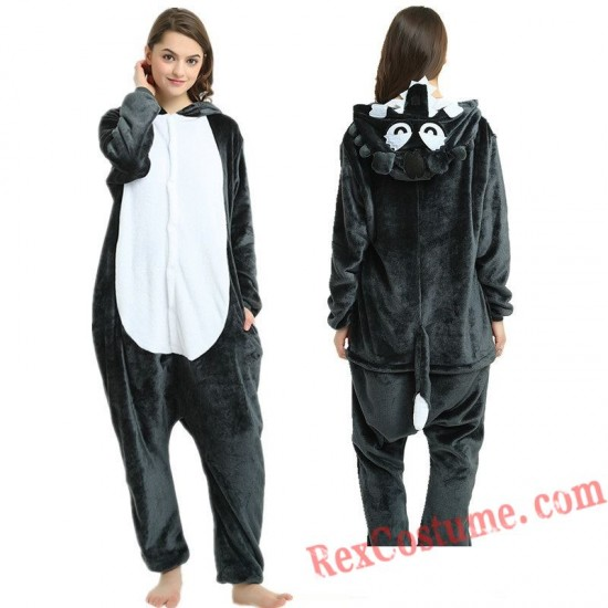 Adult Big Grey Wolf Kigurumi Onesie Pajamas Cosplay Costumes