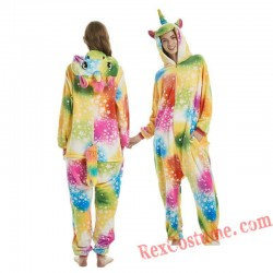 Adult Star Unicorn Kigurumi Onesie Pajamas Cosplay Costumes