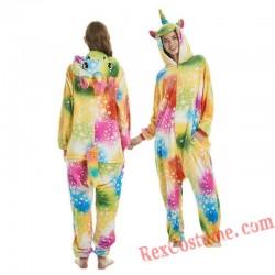 Adult Star Unicorn Kigurumi Onesie Pajamas Cosplay Costumes