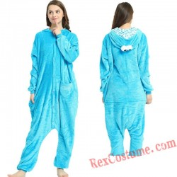 Adult Blue Sesame Street Kigurumi Onesie Pajamas Cosplay Costumes