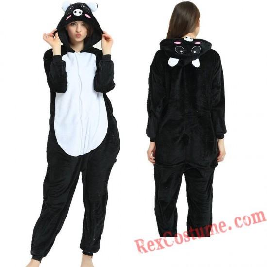 Adult Pig Kigurumi Onesie Pajamas Cosplay Costumes