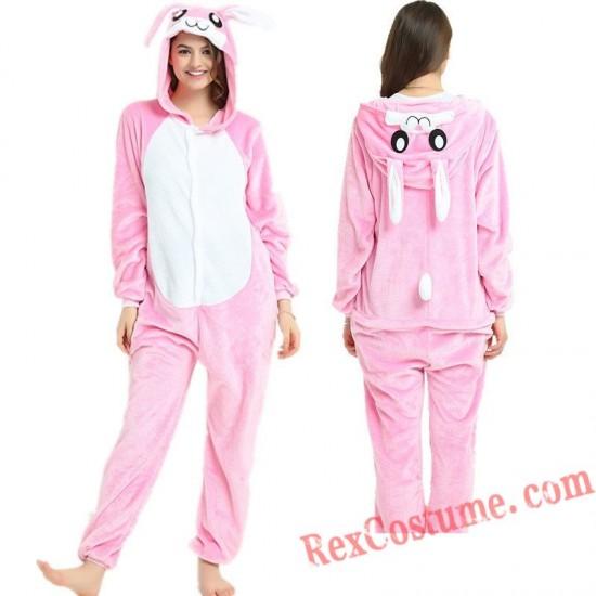 Adult Rabbit Kigurumi Onesie Pajamas Cosplay Costumes
