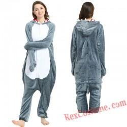 Adult Grey Shark Kigurumi Onesie Pajamas Cosplay Costumes