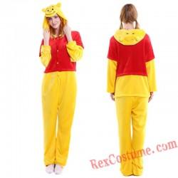 Adult Winnie The Pooh Kigurumi Onesie Pajamas Cosplay Costumes