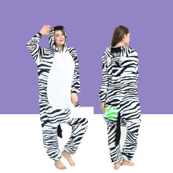 Adult Zebra Kigurumi Onesie Pajamas Cosplay Costumes