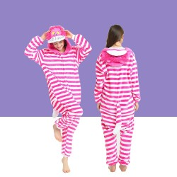 Adult Cheshire Cat Kigurumi Onesie Pajamas Cosplay Costumes
